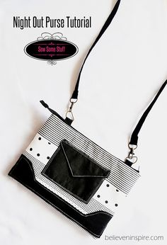 Learn to make a very stylish night out purse in this step by step sewing tutorial with free accent sewing patterns. Perfect to be used as mini travel bag.