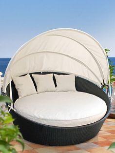¿Qué tal tomarnos una siesta a aire libre en estos sillones? #adondevivir