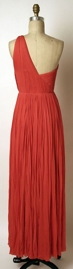 Evening dress, Madame Grès (1960s). Silk.