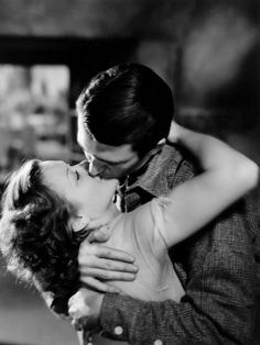 """wehadfacesthen: """" James Stewart and Simone Simon in Seventh Heaven (Henry King, """" Old Hollywood Stars, Classic Hollywood, Romantic Movie Scenes, Movie Kisses, Old Fashioned Love, Seven Heavens, Love Scenes, Movie Couples, Its A Wonderful Life"""