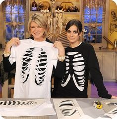 diy skeleton shirt. pair with some leggings. love this idea for a fast and cheap…