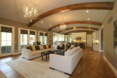 "Clayton Douglas Homearama 2014 home ""Bella Noelle"" Additional Photo Living Room/View/Lighting and Exposed Beams"