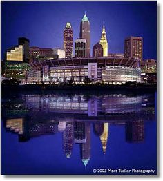 Cleveland Skyline with Browns Stadium