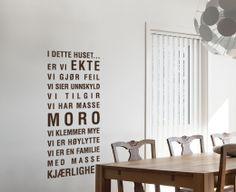 Happylines 'Ekte' wallsticker - En fantastisk wallsticker til familie hjemmet!  Halv pris i juli......fordi vi ønsker denne inn i flest mulig hjem :).