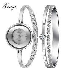 Xinge pigeon marca 2016 nueva moda mujeres del reloj dorado de la pulsera de lujo Dress Rhinestone para mujer famoso reloj de cuarzo XG2-10