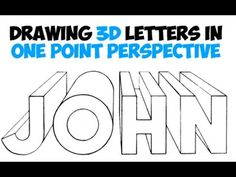 How to Draw 3D Letters Using One Point Perspective - YouTube