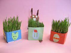Kuvahaun tulos haulle pääsiäisruoho askartelu Easter Crafts, Planter Pots, Ideas, Thoughts