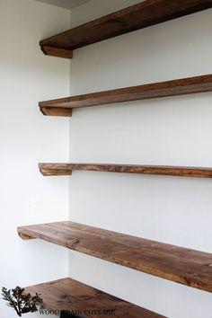 diy solid wood wall to wall shelves diy pinterest solid wood rh pinterest com real wood wall shelves Wood Lecterns