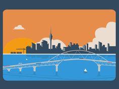 Auckland City Gif Illustration