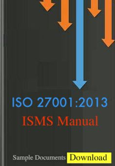 iso 27001 2005 isms manual 8 chapters and 3 annexure document kit rh pinterest com ISO IEC 20000-1 ISO IEC 27001 2013