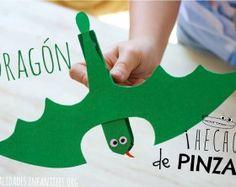 Dragon de juguete casero. #Manualidades hechas de #Madera