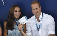 Prince William fanning himself with Catherine's ID card