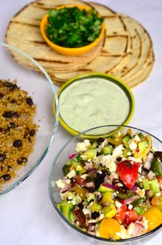 Greek Quinoa Tacos from ReluctantEntertainer.com