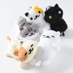 "Enjoy even more ***Neko Atsume*** action on your phone in the form of these adorable **mascot plushies** which also double as **screen cleaners**! So much more helpful than a real kitty, wouldn't you agree? Choose from **Sunny**, **Pepper**, **Pickles** and **Tubbs**. Each of the plushies is around **3""-4.3""** in size and comes with a **ball chain** and **earphone jack attachment** so you can clip... #plushie"