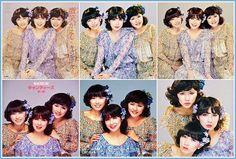~微笑がえし/キャンディーズ~ 1978年2月25日発売:B面『かーてん・こーる』 花柄衣装いろいろ