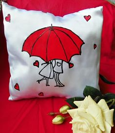 Sewing Ideas Pillows How To Make 16 Ideas Cushion Cover Designs, Cushion Covers, Pillow Covers, Sewing Pillows, Diy Pillows, Throw Pillows, Couple Pillowcase, Love Is In The Air, How To Make Pillows