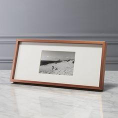 Shop gallery copper 4x6 picture frame with white mat.   Exhibit your favorite photos gallery-style.  Creating a display of modern proportions, oversized white mat floats a single photo within a sleek frame of copper-finished aluminum.