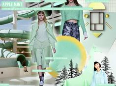 S/S 2016 COLORS -  APPLE MINT a delicate pale green works well when applied to lightweight fabrics, as well as coordinated ensembles.