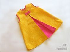 Baby dress tutorial (PDF). Sewing. Size 3-6, 6-9, 9-12 months.. €4,50, via Etsy.