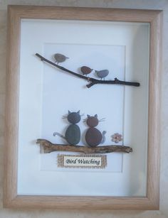Galet Art encadré photo observation des oiseaux par Jewlls4u
