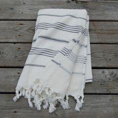 Hamam Handduk Pacific white-black - Hamam handdukar 57f2e1f17068a