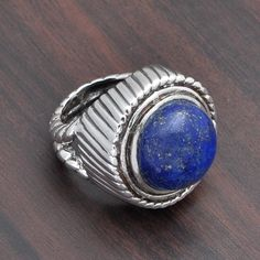 925 SOLID STERLING SILVER EXCLUSIVE LAPIS EXCLUSIVE RING 13.22g DJR3649 #Handmade #Ring