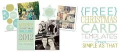 Free Christmas Card Templates from http://simpleasthatblog.com #christmas #holidaycards