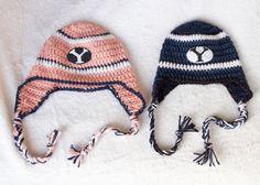 Crochet BYU Hat Infant to Child sizes Girl & Boy by CradleCrochets