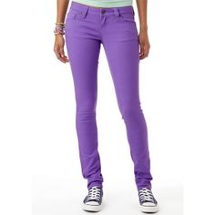 Britt Low-Rise Skinny Color Jean Dahlia ($40) ❤ liked on Polyvore