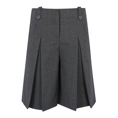 George Girls School Culottes ($6.62) ❤ liked on Polyvore featuring pants, capris, pleated trousers, zip pants, zipper pants, adjustable waist pants and pleated pants