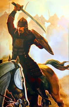Mongol noble warrior charging into battle Mongolia, Genghis Khan, World History, Ancient History, Master Chief, Samurai, Empire, Fan Art, Civilization