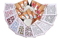 Nail Art Water Slide Tattoo Stickers Decals  Immense Designs Flowers  Leaves  Butterflies  Humming Birds   For an Elegant Manicure 10  Pack LDII >>> Read more reviews of the product by visiting the link on the image.