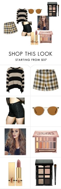 """""""Gold and Black"""" by ejadet on Polyvore featuring beauty, STELLA McCARTNEY, Alice + Olivia, Tripp, Oliver Peoples, Urban Decay, Yves Saint Laurent and Bobbi Brown Cosmetics"""