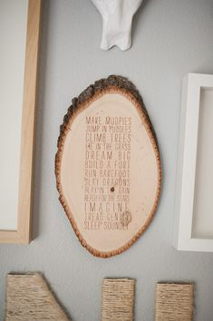 i love the idea of using a piece of tree trunk