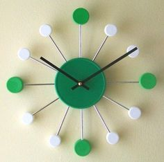Clock from recycled bottle caps
