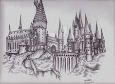 Drawn castle hogwarts school - pin to your gallery. Explore what was found for the drawn castle hogwarts school Chateau Harry Potter, Harry Potter Château, Harry Potter Kunst, Hery Potter, Harry Potter Sketch, Harry Potter Artwork, Harry Potter Drawings, Harry Potter Wallpaper, Harry Potter Tattoos Sleeve