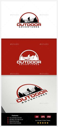 Hiking Adventures - Logo Design Template Vector #logotype Download it here: http://graphicriver.net/item/hiking-adventures-logo/10238088?s_rank=1313?ref=nesto