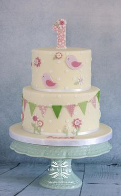 Christening/1st Birthday cake by Cakes by Christine