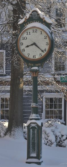 Street Clock Medfield Center