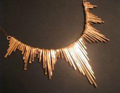 Cobre collar - egipcio Collar inspirado - joyería nupcial del suroeste - joyería de cobre