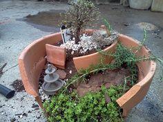 Fairy garden idea.