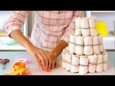 Baby Shower Easy Recipes   Baby Shower Ideas - How to Make a Diaper Cake