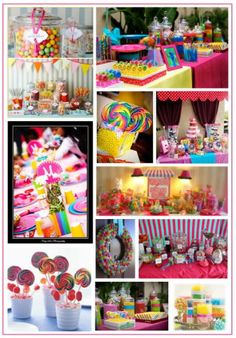 Super cute Candy Bar theme! i ahve found taylors birthday theme!!!!
