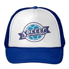 Soccer #Grandpa Trucker Hat Mesh Cap. To see this design on the full range of products, please visit my store: www.zazzle.com/gamefacegear*/ and click on the 'Soccer Football Designs' category. #soccer #football #SoccerGrandpa