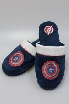1d87937cc87e After all the tough choices in Civil War at least Captain America doesn't  need to choose between style and comfort because these Logo Slippers have  both!