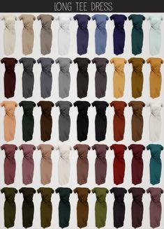 elliesimple - long tee dress original mesh 45 swatches morphs hq compatible