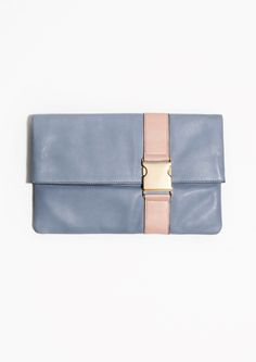 & Other Stories | Leather Foldover Clutch
