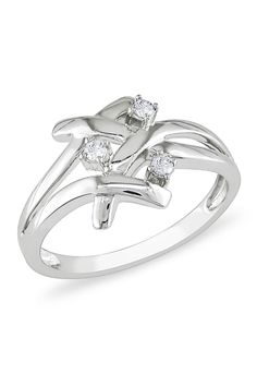 .1CT 4 Prong Diamond Ring In 10k White Gold