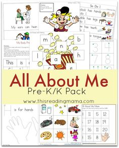 FREE All About Me Pre-K-K Pack  This Reading Mama