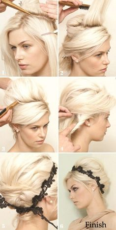 DIY easy updo hairstyle tips